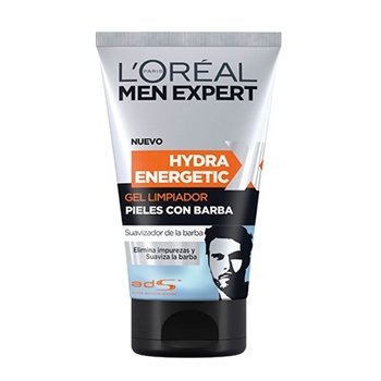 L'Oréal Men Expert Hydra Energetic Gel limpiador Pieles con Barba 150 ml