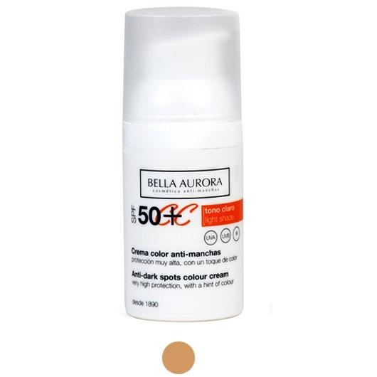 Bella Aurora Crema Color Anti Manchas Spf50 Precio Comprar Paco Perfumerías