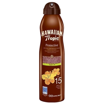 Hawaiian Tropic Protective Dry Oil Continuous Spray SPF15 177 ml