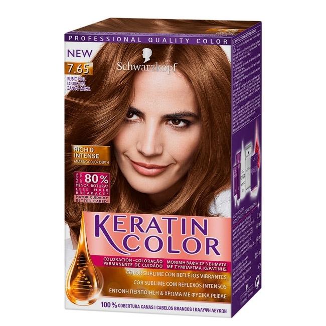KERATIN COLOR Keratin Color Nº 7.65 Rubio Miel    Precio 5ddb11b709a4