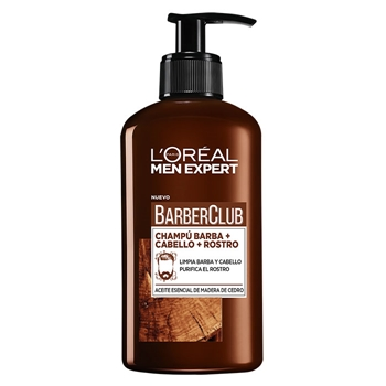 L'Oréal Men Expert BARBERCLUB Champú Barba + Cabello + Rostro 200 ml