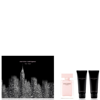 Narciso Rodríguez FOR HER Estuche 50 ml Vaporizador + Gel Ducha 75 ml + Body Lotion 75 ml