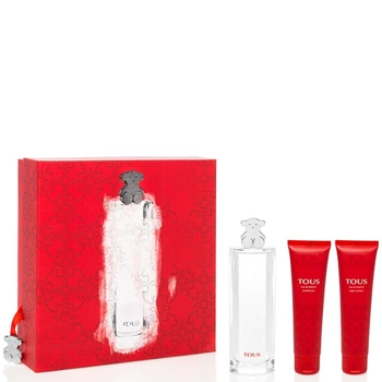TOUS EAU DE TOILETTE Estuche 90 ml Vaporizador + Gel de Ducha 100 ml + Body Lotion 100 ml