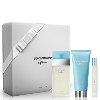 Dolce & Gabbana LIGHT BLUE Estuche 100 ml Vaporizador + 7,4 ml + Body Lotion 100 ml