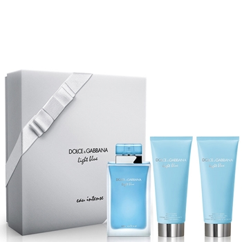 Dolce & Gabbana LIGHT BLUE EAU INTENSE Estuche 100 ml Vaporizador + Gel Ducha Integral 100 ml + Body Lotion 100 ml