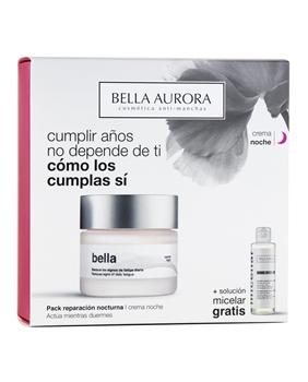 Bella Tratamiento Acción Nocturna Reparador y Anti-Manchas Estuche de Bella Aurora