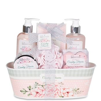 Idc set de ba o country flowers precio comprar paco for Set de bano completo