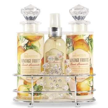 Idc set de ba o vintage fruits precio comprar paco for Set de bano completo