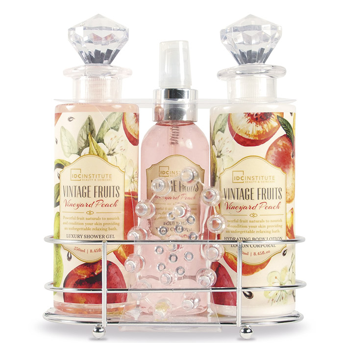 Idc set de ba o vintage fruits precio comprar paco for Set de bano baratos