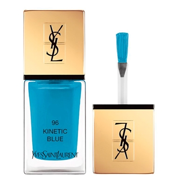 Yves Saint Laurent La Laque Couture Nº 96 Kinetic Blue Edición Limitada