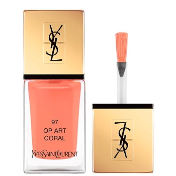 Yves Saint Laurent La Laque Couture Nº 97 Op Art Coral Edición Limitada