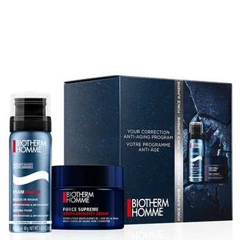 BIOTHERM HOMME FORCE SUPREME Youth Architect Cream Estuche 50 ml + FOAMSHAVER Mousse de Rasage ml