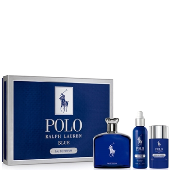 Ralph Lauren POLO BLUE EDP Estuche 125 ml Vaporizador + Loción Facial 75 ml + Desodorante Stick 75 gr