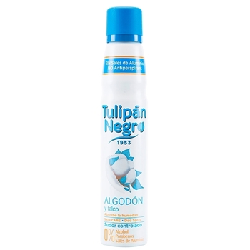 Algodón y Talco Desodorante Spray de Tulipán Negro