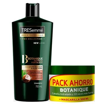 Tresemmé Botanique Nutre & Fortalece Champú 700 ml + Botanique Mascarilla Aceite de Coco & Aloe Vera 300 ml