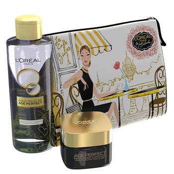 L'Oréal Age Perfect Renacimiento Celular Día SPF15 Estuche 50 ml + Age Perfect Agua Micelar 200 ml + Neceser
