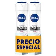 Invisible Black & White Clear Desodorante Spray Duplo de NIVEA