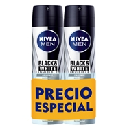 Black & White Invisible Desodorante Spray Duplo de NIVEA MEN