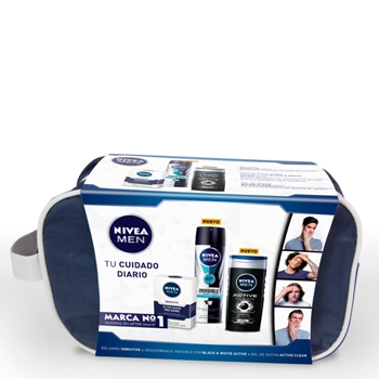 NIVEA MEN Sensitive After Shave Bálsamo Estuche 100 ml+ 2 Productos