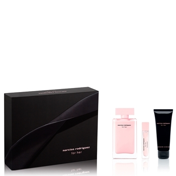 Narciso Rodríguez FOR HER Estuche 100 ml Vaporizador + 10 ml + Body Lotion 75 ml
