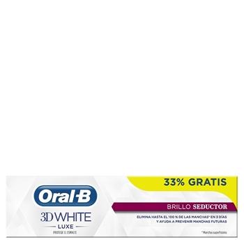 Oral-B 3D White Luxe Brillo Seductor Dentífrico 75 ml + 25 ml