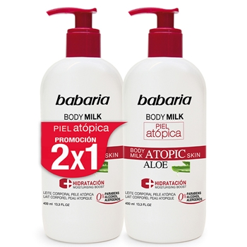 Babaria Body Milk Piel Atópica Aloe 400 ml + 400 ml