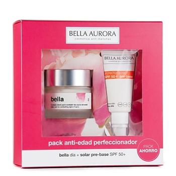 Bella Aurora Bella Tratamiento Diario Anti-Edad y Anti-Manchas Estuche Piel N/S 50 ml + Protector Solar SPF50+ Pre-Base