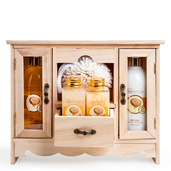 IDC INSTITUTE Set de Baño Argan Wooden From Nature 5 Productos