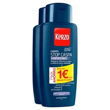 Kerzo CHAMPÚ STOP CASPA + PICORES 400 ml + 400 ml