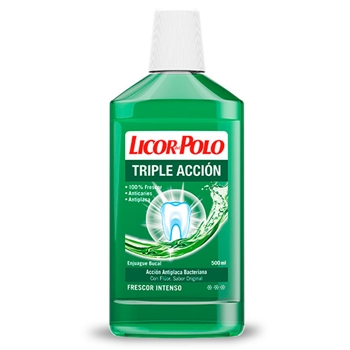 Licor del Polo Enjuague Triple Acción 500 ml