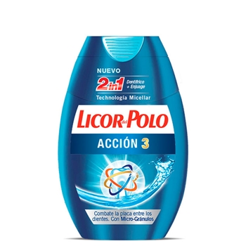 Licor del Polo Dentífrico 2 en 1 Acción 3 75 ml + 25 ml Gratis