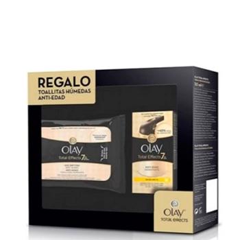 Olay Total Effects Crema Anti-Edad Hidratante SPF15 Estuche 50 ml + Toalllitas Limpiadoras