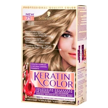 Keratin Color Nº 7.1 Rubio Ceniza de KERATIN COLOR