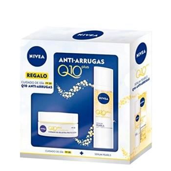 NIVEA Q10 Plus Anti-Arrugas Cuidado de Día SPF30 Estuche 50 ml + Sérum Pearls 40 ml