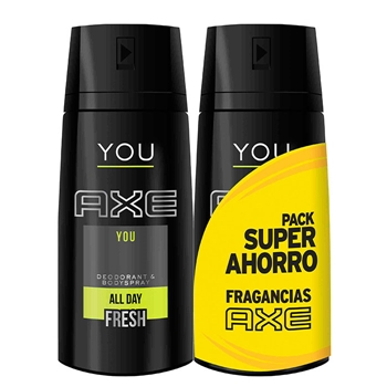 AXE Desodorante Body Spray You Duplo 150 ml + 150 ml