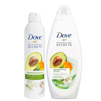DOVE Body Lotion Spray Invigorating Ritual Aguacate Estuche 190 ml + Gel de Ducha Aguacate 500 ml