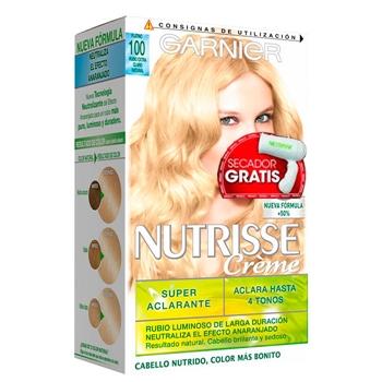 Nutrisse Nutrisse Crème Nº 100 Rubio Extra Claro Natural Estuche 2 Unidades + Secador de Viaje