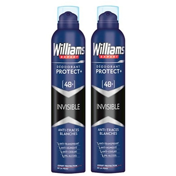 Williams INVISIBLE DESODORANTE SPRAY DUPLO 200 ml + 200 ml