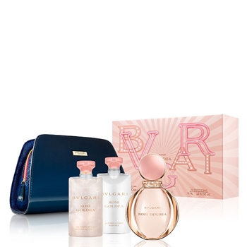 Bulgari Rose Goldea Estuche 90 ml Vaporizador + Body Lotion 75 ml + Gel de Ducha 75 ml + Neceser