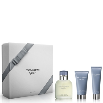 Dolce & Gabbana LIGHT BLUE Pour Homme Estuche 125 ml Vaporizador + Gel Ducha 50 ml + After Shave Bálsamo 75 ml