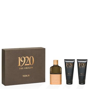 TOUS 1920 THE ORIGIN Estuche 100 ml Vaporizador + After Shave 100 ml + Gel de Ducha 100 ml
