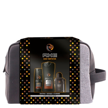 AXE DARK TEMPTATION Desodorante Body Spray Estuche 150 ml + After Shave 100 ml + Gel de Ducha 250 ml