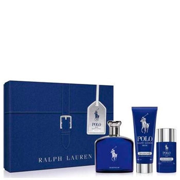 Ralph Lauren POLO BLUE EDP Estuche 125 ml Vaporizador + Gel de Ducha 100 ml + Desodorante Stick 75 gr