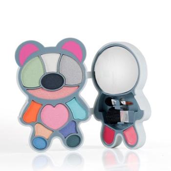 GUYLOND Paleta Maquillaje Fun Colors Mouse Sombras de Ojos + Colorete + Brillos de Labios + Espejo + Brochas
