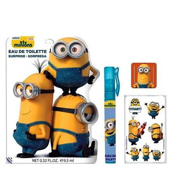 Minions Minions EDT Coleccionable 9,5 ml Vaporizador + Pegatinas + Punto de Libro (Colores Aleatorios)
