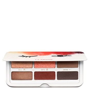 Clarins Ready In a Flash Selfie Eyes Palette 2 Tonos Mate + 2 Tonos Satinados + 2 Tonos para Cejas