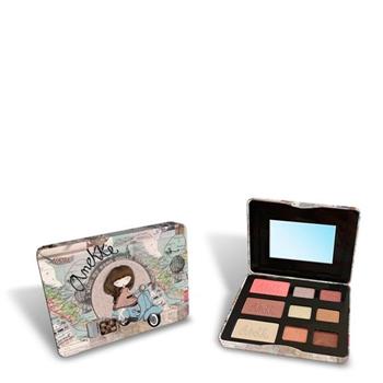 Anekke Paleta de Maquillaje 6 Sombras Ojos + 1 Colorete + 1 Maquillaje + 1 Iluminador