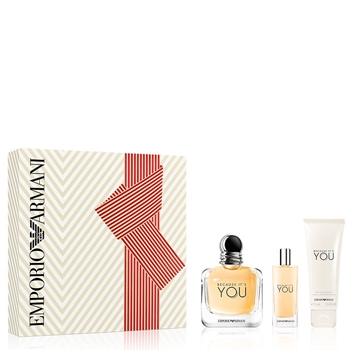 Armani BECAUSE IT'S YOU Estuche 100 ml Vaporizador + Miniatura 15 ml Vaporizador + Body Lotion 75 ml