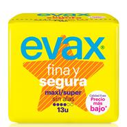 FINA y SEGURA Compresa Super Maxi de EVAX