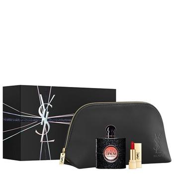Yves Saint Laurent BLACK OPIUM Estuche 50 ml Vaporizador + Mini Rouge Pur Couture Nº 01 Le Rouge + Neceser